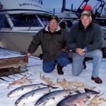 Roy and Art with Salmon and Crab